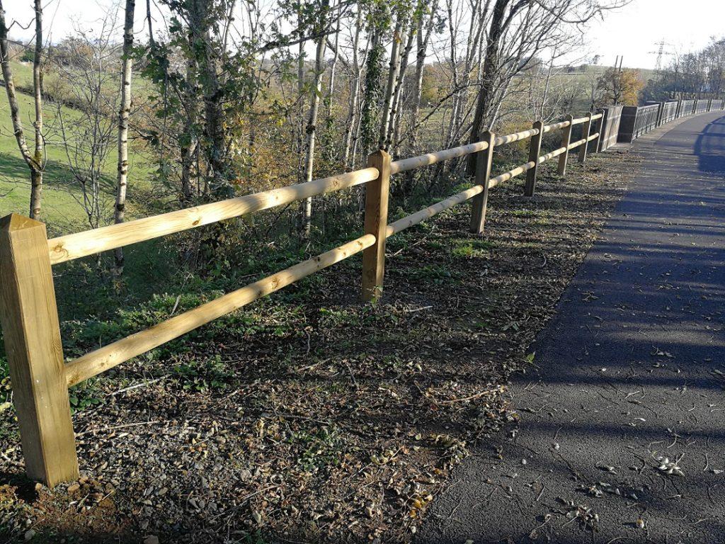clôture double lisse voie verte mauriac la charmille