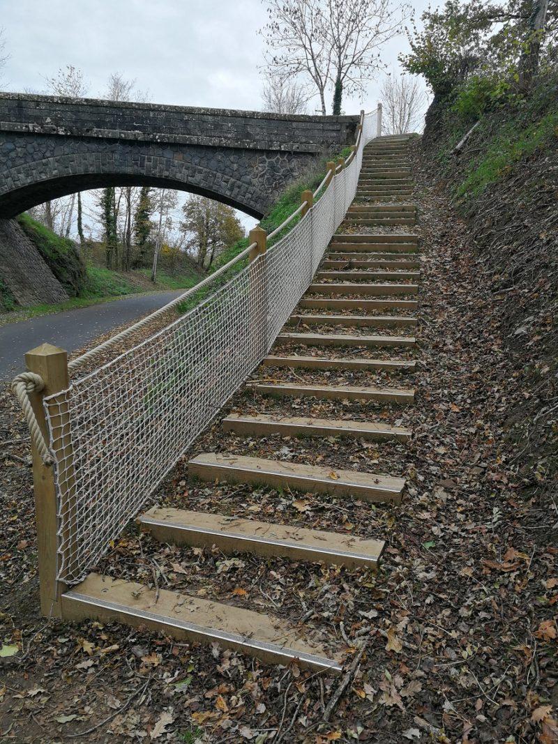 escalier voie verte terminé
