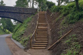 escalier voie verte
